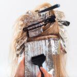 farbowanie blond włosów
